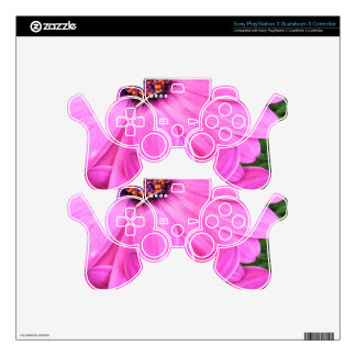 Inside of Pink Purple Gerbera Daisy Flower Nature Skins For PS3 Controllers