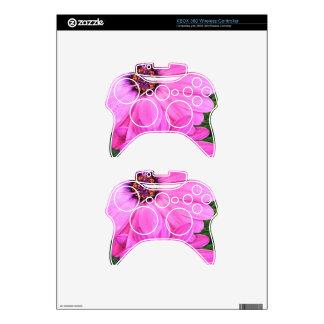 Inside of Pink Purple Gerbera Daisy Flower Nature Xbox 360 Controller Skins