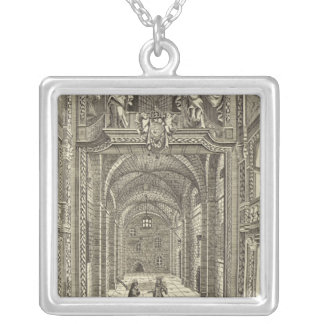 Inside of the Dukes Theatre in Lincoln's Inn Silver Plated Necklace