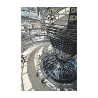 Inside of the glass dome of Reichstag building. Be Canvas Print