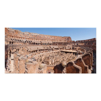 Inside of the Rome Colosseum Panoramic Portrait Card