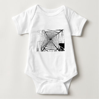 Inside Oil Drill Rig Sketch Baby Bodysuit
