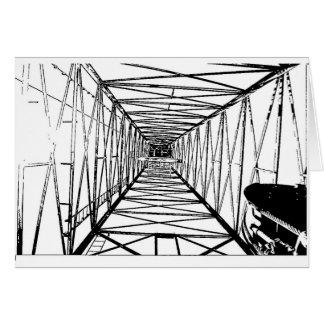 Inside Oil Drill Rig Sketch Card