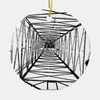 Inside Oil Drill Rig Sketch Ceramic Ornament