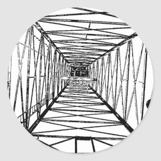 Inside Oil Drill Rig Sketch Classic Round Sticker