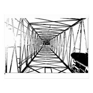 Inside Oil Drill Rig Sketch Postcard