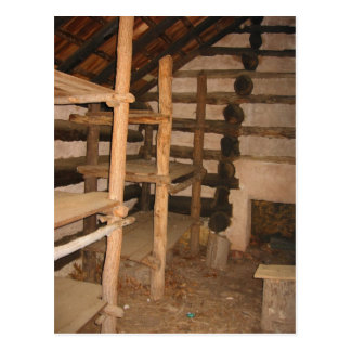 Inside Old Cabin Postcard