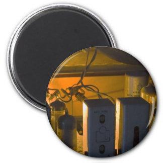 inside old radio 2 inch round magnet
