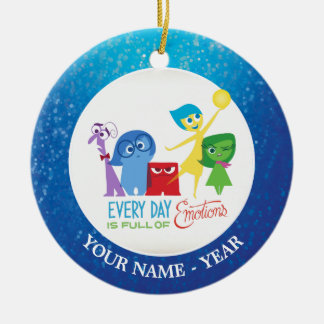 Inside Out   All Characters Add Your Name Ceramic Ornament