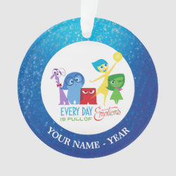 Circle Acrylic Ornament with Every Day is Full of Emotions from Disney Pixar's Inside Out design