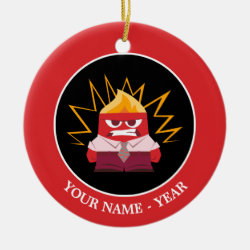 Circle Ornament with Anger from Pixar's Inside Out design