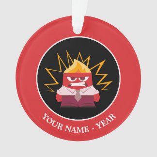 Inside Out   Anger Standing Add Your Name Ornament