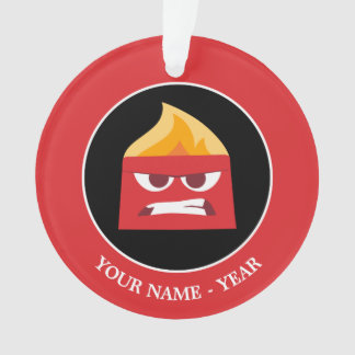 Inside Out | Angry Face Add Your Name Ornament