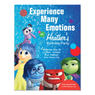 Inside Out Birthday 4.25x5.5 Paper Invitation Card