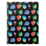 Inside Out   Character Pattern Spiral Notebook