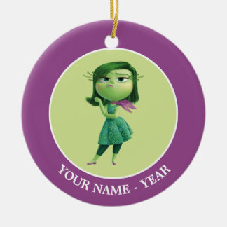 Inside Out   Disgust Standing Add Your Name Ceramic Ornament