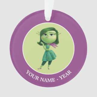 Inside Out   Disgust Standing Add Your Name Ornament