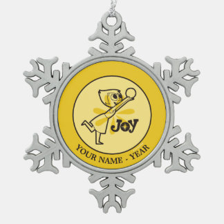 Inside Out | Joy Add Your Name Snowflake Pewter Christmas Ornament
