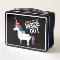 Inside Out | Rainbow Unicorn Add Your Name Metal Lunch Box