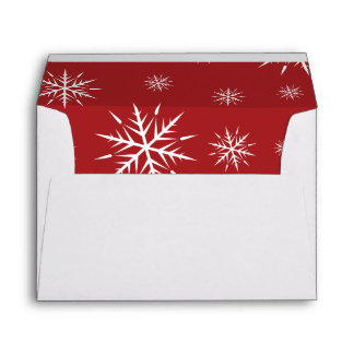 Inside Red Simple Merry Christmas A7 Envelopes