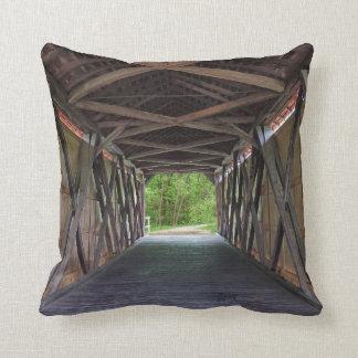 Inside Sandy Creek Bridge Hillsboro Missouri Throw Pillow