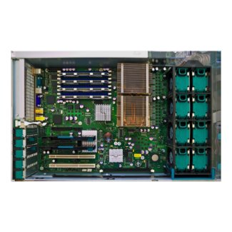 inside server computer poster
