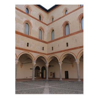Inside Sforza Castle - Milano, Italia Postcard
