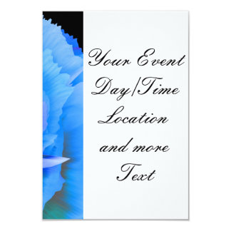 inside the blue rose 3.5x5 paper invitation card