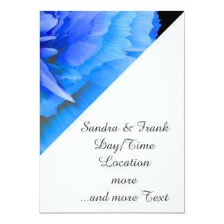 inside the blue rose 5x7 paper invitation card