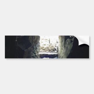Inside The Carrowkeel Tombs Ireland Car Bumper Sticker