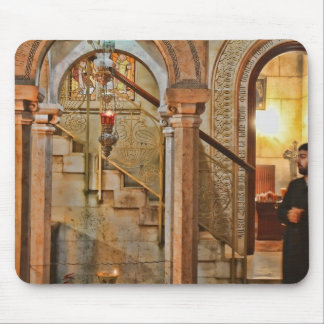 Inside the Church of the Holy Sepulchre Mouse Pad
