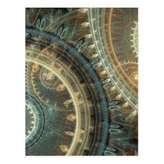 Inside the clock postcard
