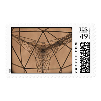 Inside The Communication Tower Postage Stamp