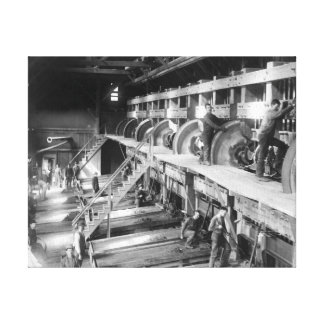 Inside the Deadwood Terra Gold Stamp Mill Canvas Print