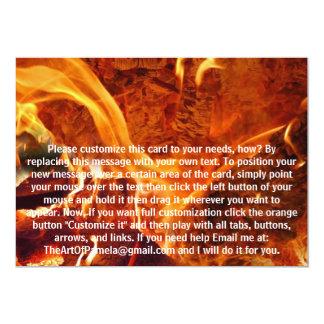 Inside the Fire 5x7 Paper Invitation Card