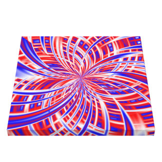Inside the Fireworks Abstract Art Texture Gallery Wrapped Canvas