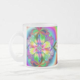 Inside the Flower ~ Frosted Glass Mug
