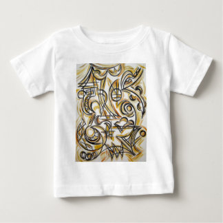 Inside The Labyrinth - Abstract Art Handpainted Baby T-Shirt