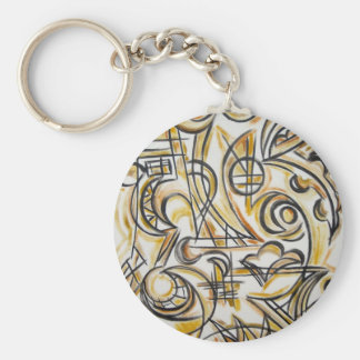 Inside The Labyrinth- Abstract Art Handpainted Keychain