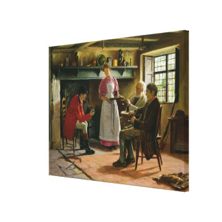 Inside the Lygon Arms, Broadway, 1896 Canvas Print