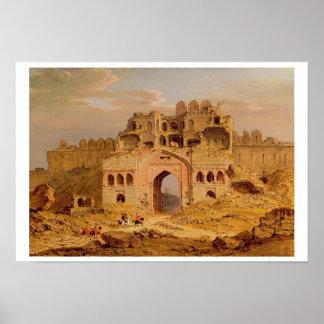 Inside the Main Entrance of the Purana Qila, Delhi Poster