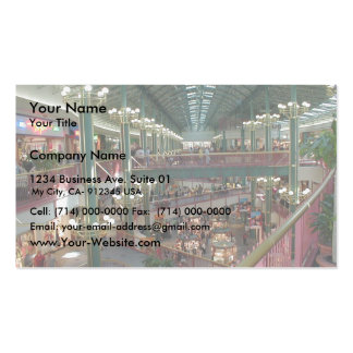 Inside The Mall Of America Minisota Store Crowd Business Card Template