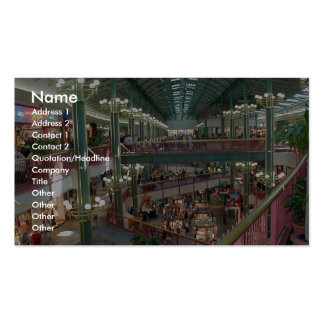 Inside The Mall Of America Minisota Store Crowd Business Card