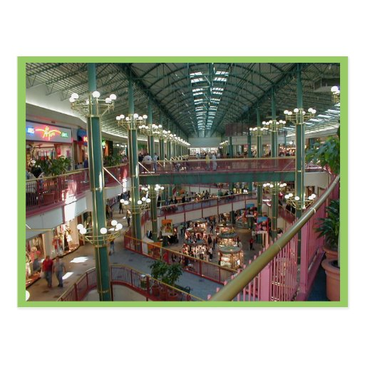 Inside The Mall Of America Minisota Store Crowd Post Card