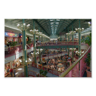 Inside The Mall Of America Minisota Store Crowd Poster