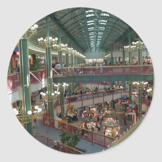 Inside The Mall Of America Minisota Store Crowd Round Stickers