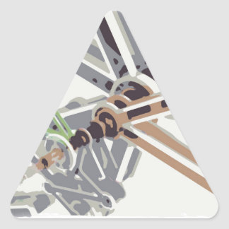 Inside the Mechanism Triangle Sticker