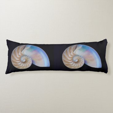 Beach Themed Inside The Nautilus Body Pillow