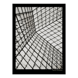 Inside The Pyramid of Louvre - poster