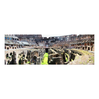 Inside the Roman Colosseum Panoramic Photograph